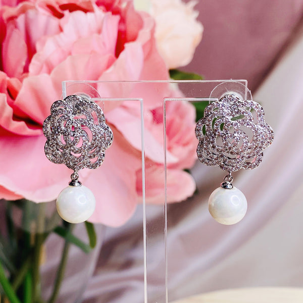 #06538113 Cubic Zirconia Earring 27mm*16mm