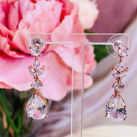 #06538111 Cubic Zirconia Earring (Rose Gold, Golden, Silver)