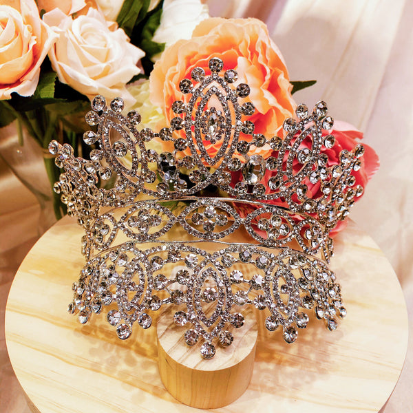 #08419016 Rhinestones Crown with Comb