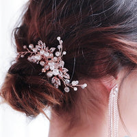 #03419037  Rose Gold Hair Comb