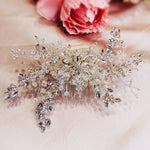 #09422062 Crystal Hair Comb (Silver, Golden)
