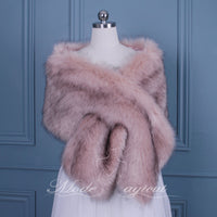#15218001 Elegant Faux Fur Shawl/Wrap