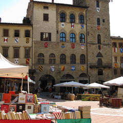 The famous antique market in Arezzo