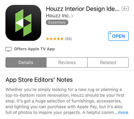 Download free Houzz app