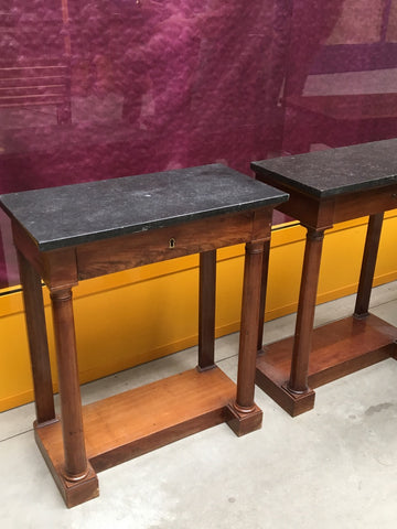 Pair Petite Empire Console Tables