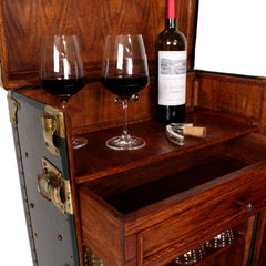 The Other Bar Is A Bit More Compact, But Still Offers Great Storage   Up To  17 Wine Bottles, 12 Glasses, A Drawer For All Your Bar Tools, And A Handy  Towel ...