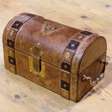 Vintage Italian Leather Trunk Box
