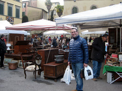 Massimo at the Lucca Antique Market