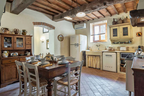 Cooking great meals is easy in this Tuscan kitchen