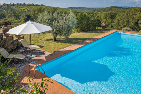 Pool at Podere Erica in Chianti