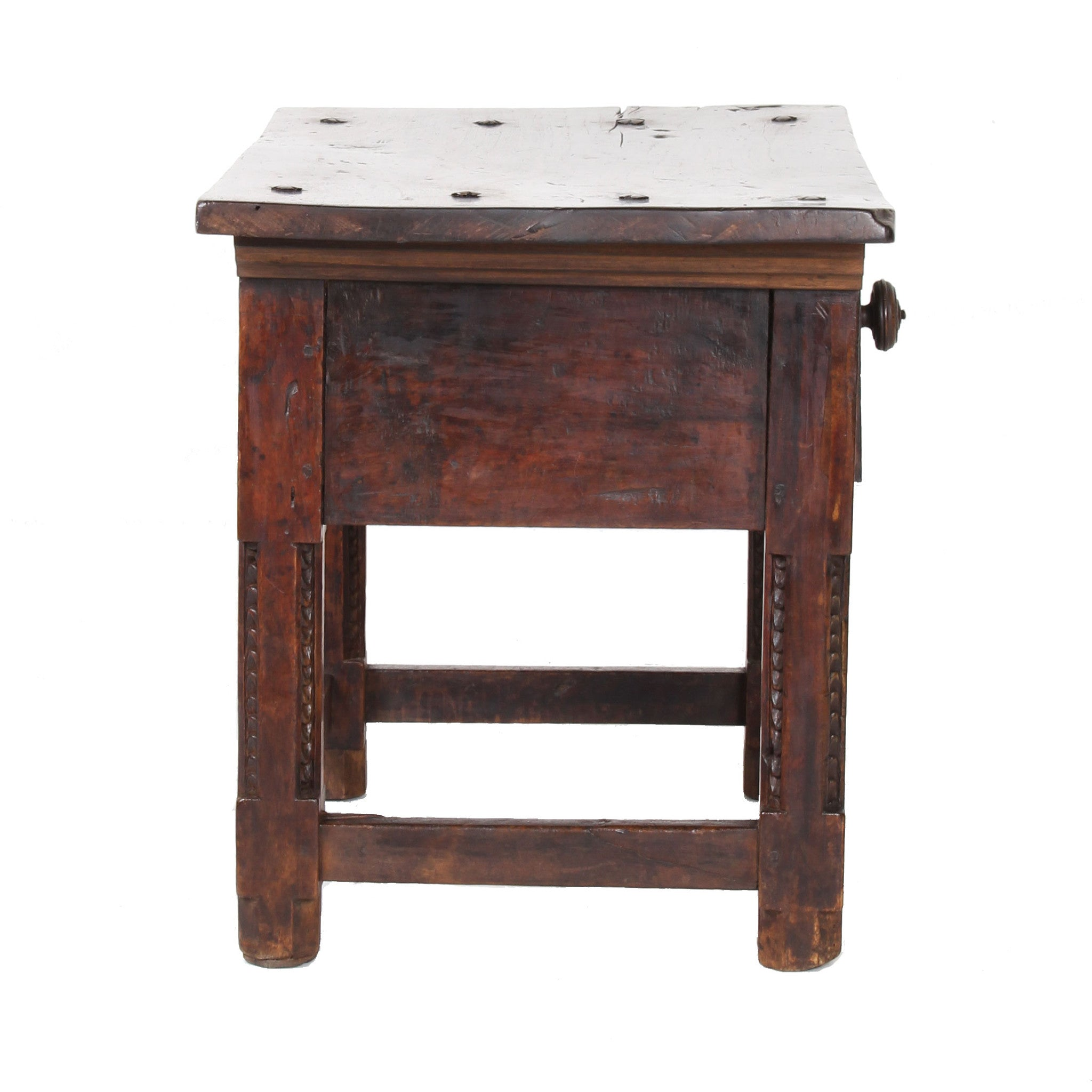 17th century italian walnut side table fatto a mano antiques for Table th visible