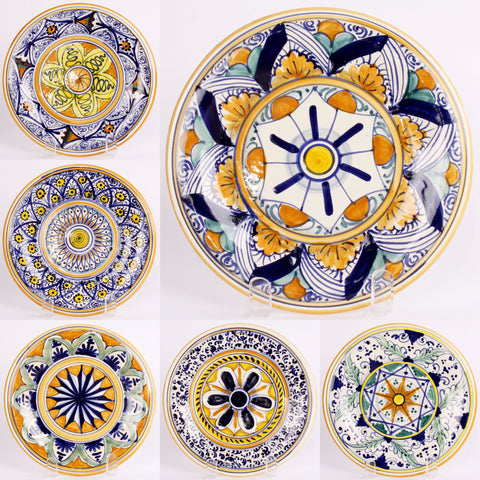 Set of 6 Handpainted Montelupo Plates - Fatto a Mano Antiques - 1  sc 1 st  Fatto a Mano Antiques : italy dinnerware - pezcame.com