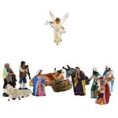 Set of Small Terracotta Nativity Figurines from Naples