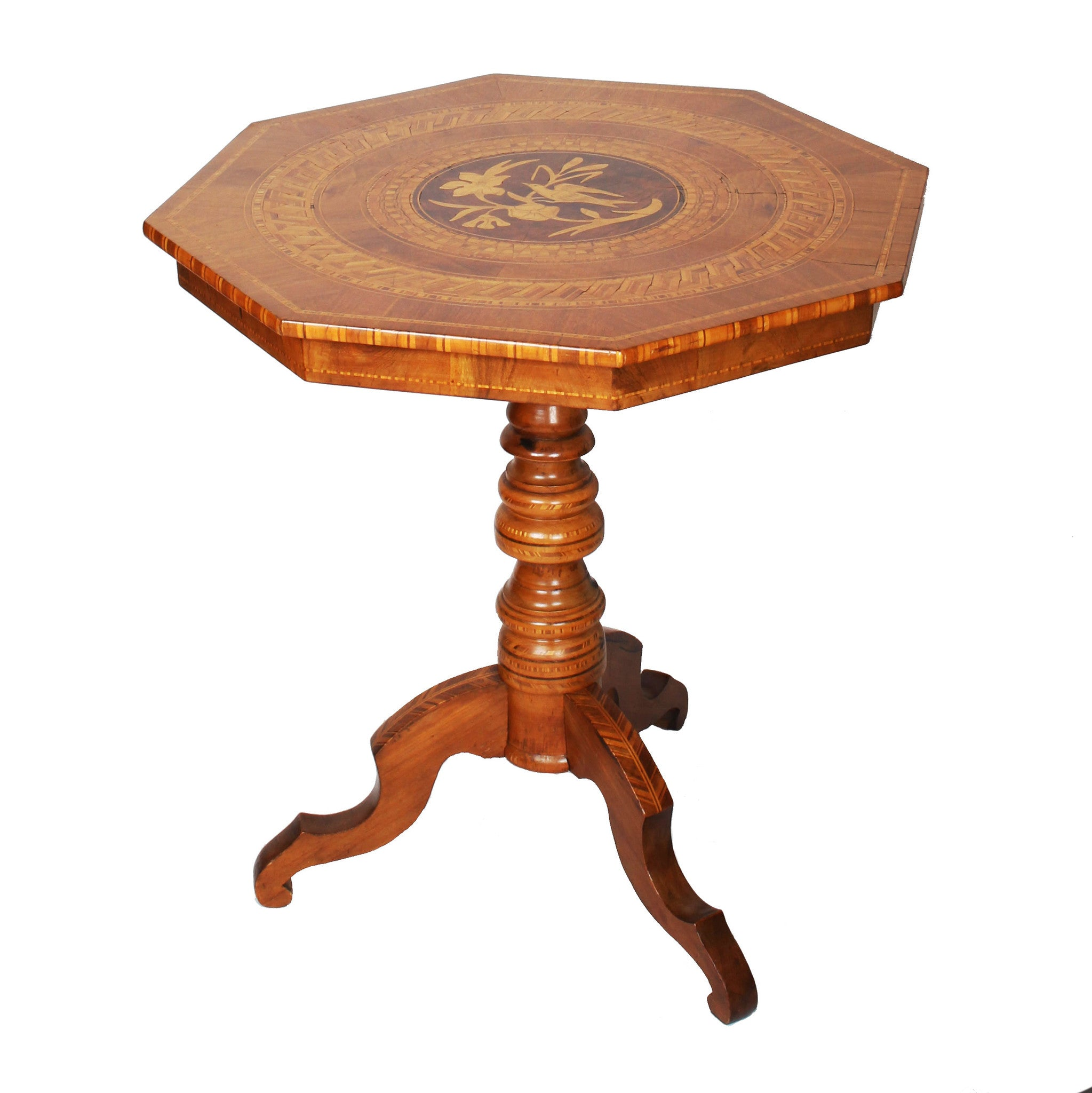 ... Antique Italian Marquetry Table   Fatto A Mano Antiques   1 ...