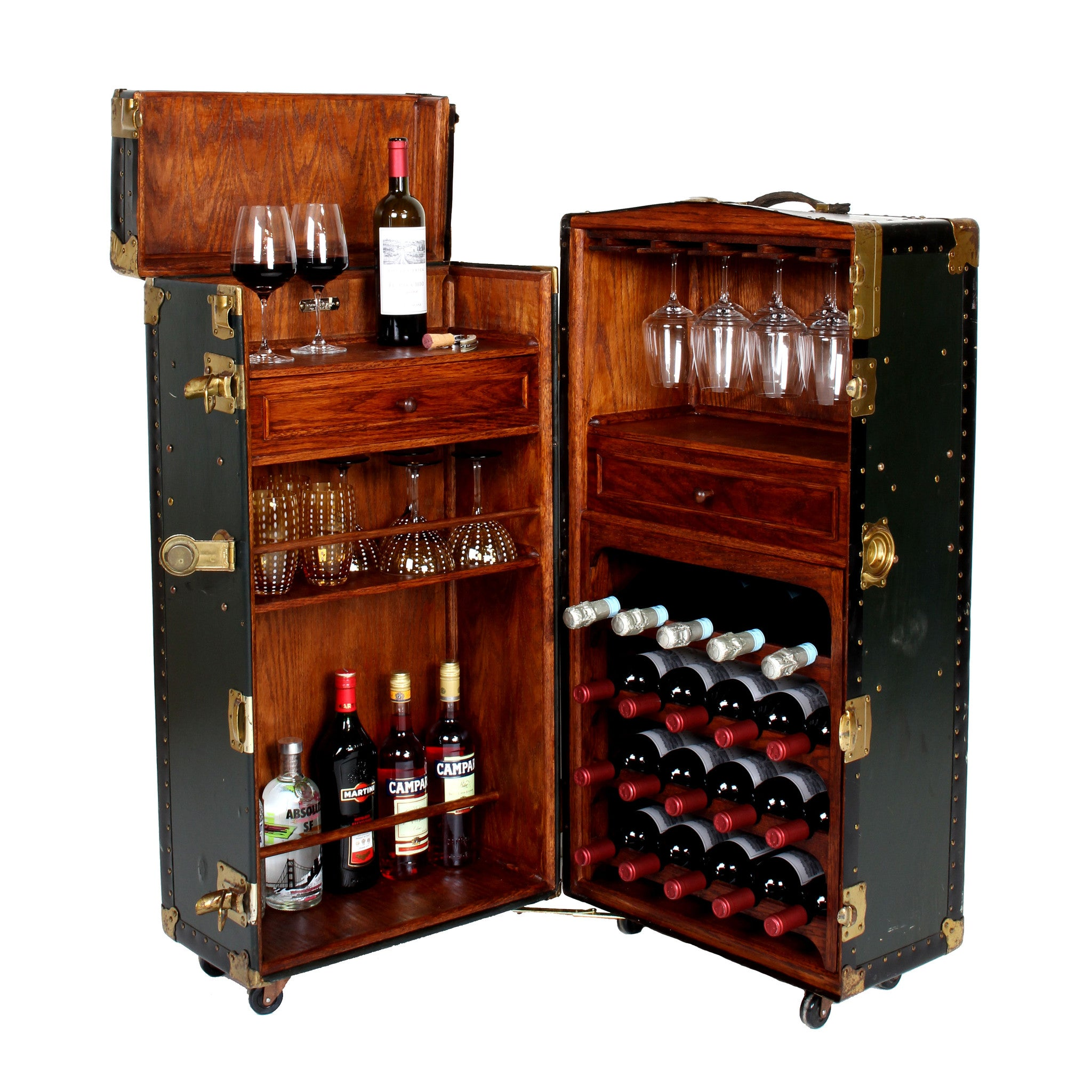 ... Vintage Steamer Trunk Bar Cabinet   Fatto A Mano Antiques   1 ...