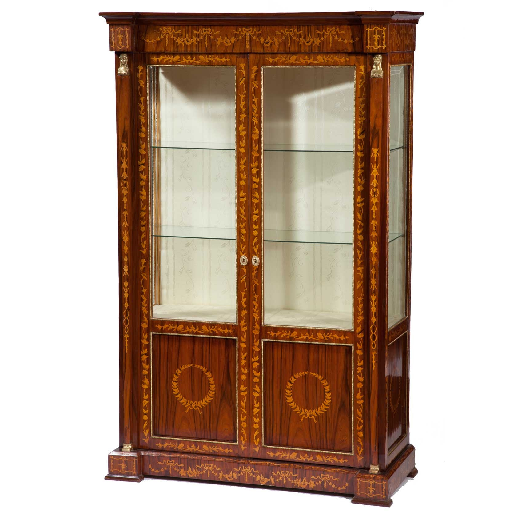 ... Vintage Italian Neoclassical Display Cabinet   Fatto A Mano Antiques    1 ...