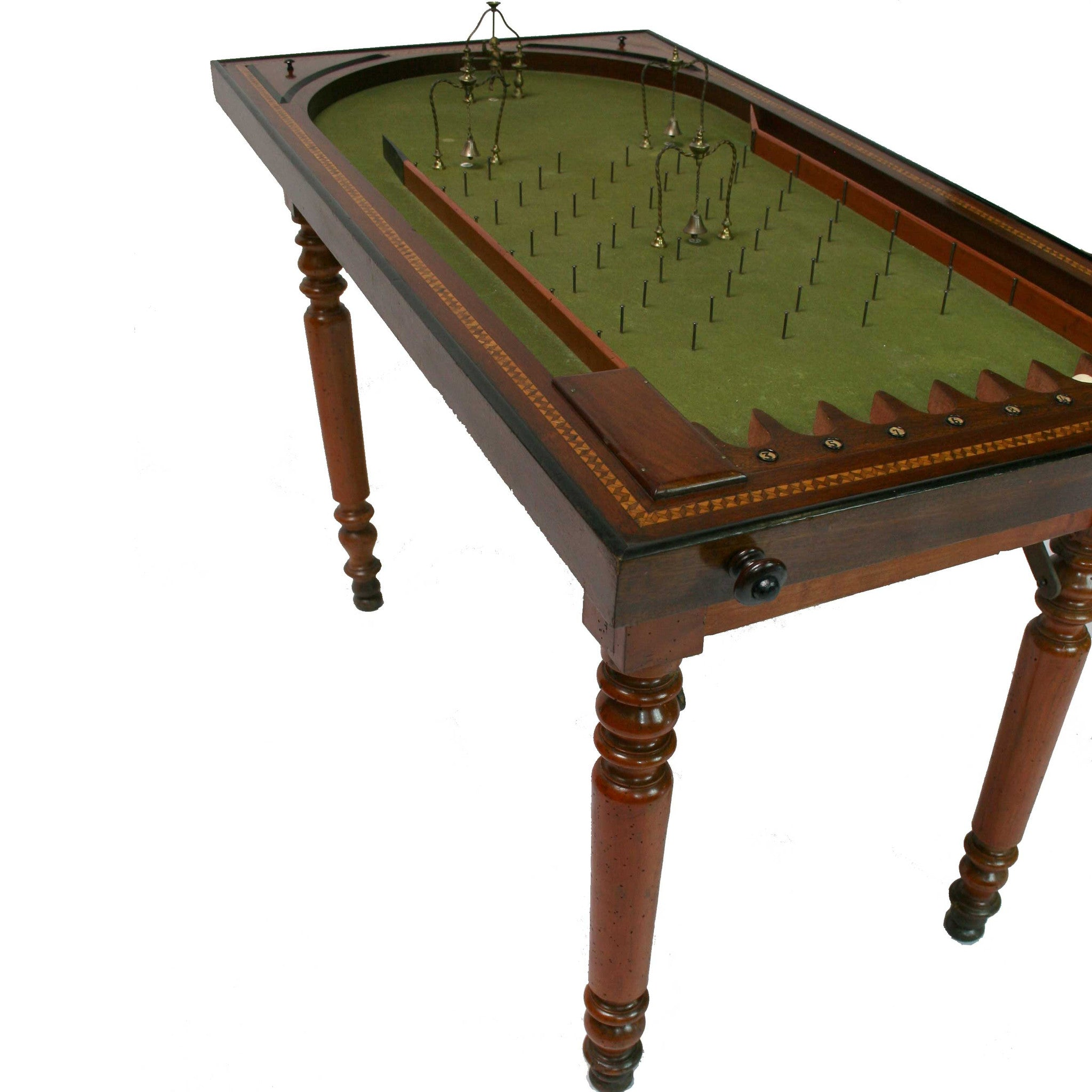 Rare 19th century Pinball Table Fatto a Mano Antiques