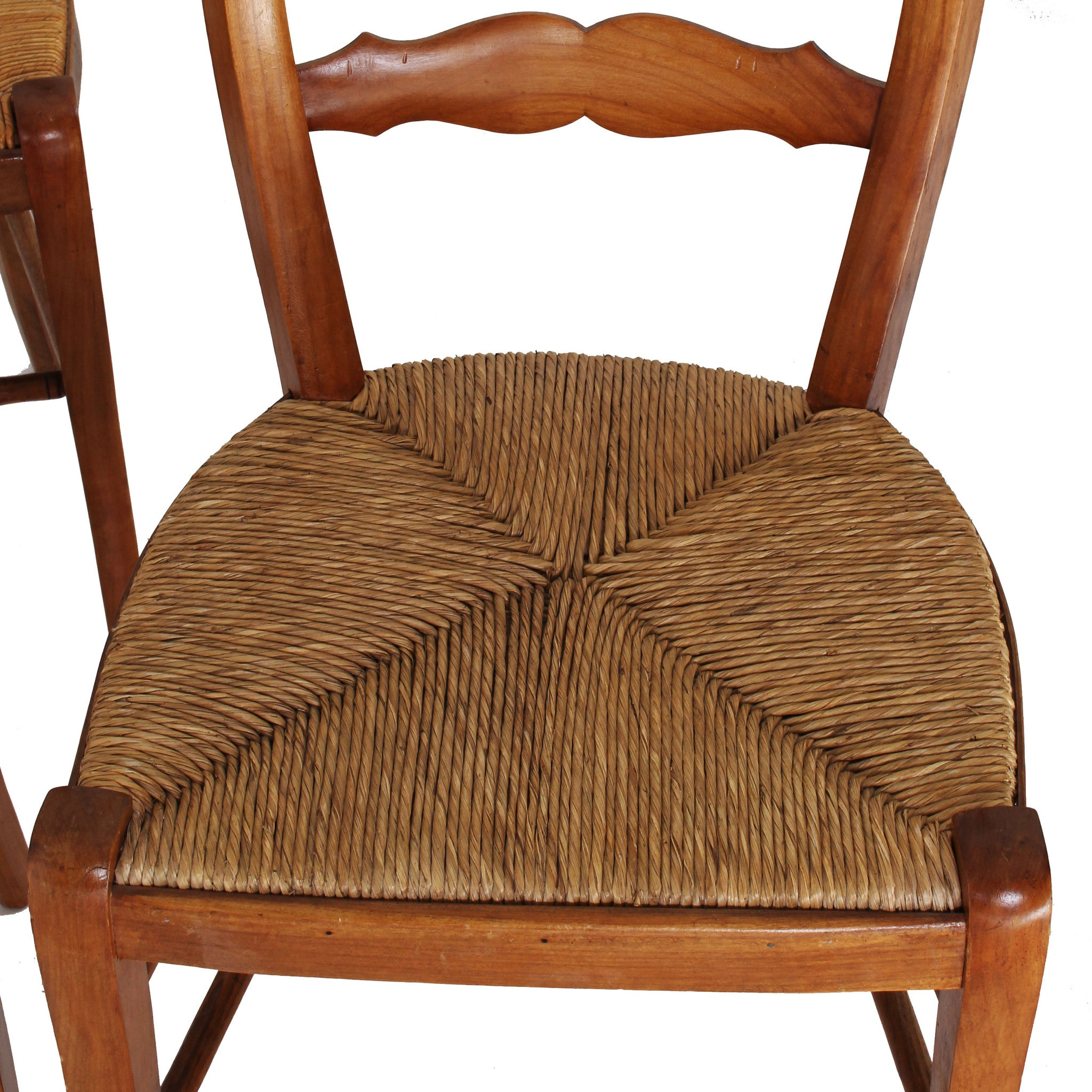 Set Of 4 Antique Tuscan Dining Chairs   Fatto A Mano Antiques   9 ...