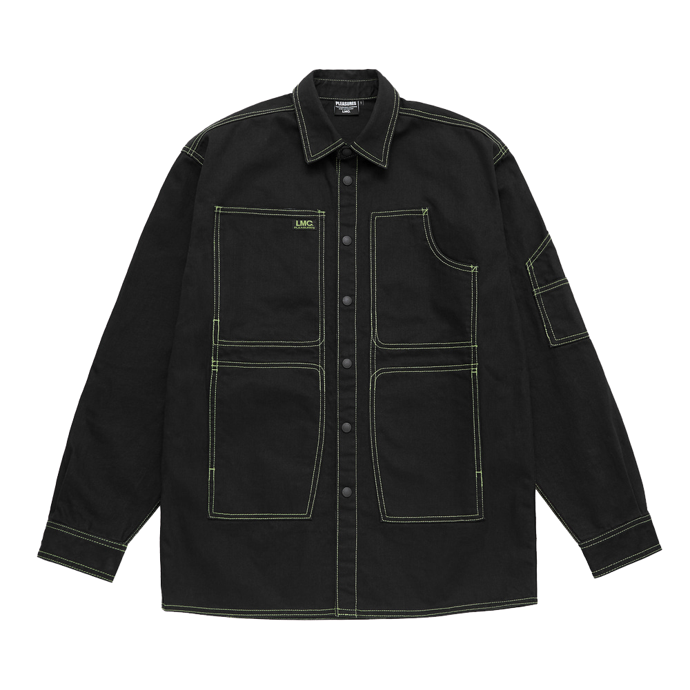 CRUSH DENIM SHIRT JACKET