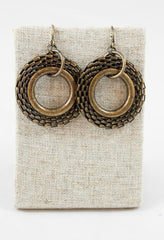 Woven-Metal Pierced Drop Earrings by LIZOU