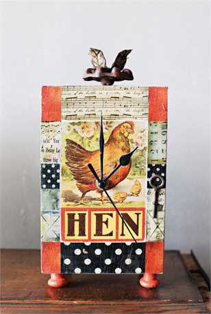 Hen Mantle Clock