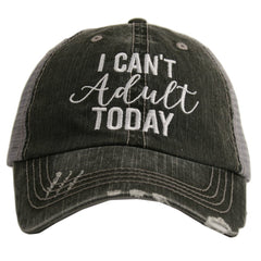 Katydid I Can't Adult Today Trucker Hat