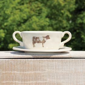 Cow Cup and Saucer