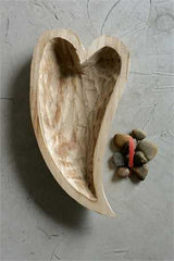 Decorative Wood Heart Shape Bowl