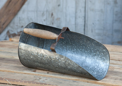 Galvanized Metal Grain Scoop