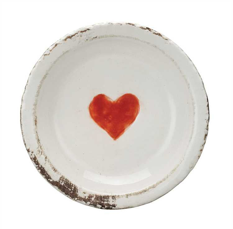 Terra Cotta Plate with Heart