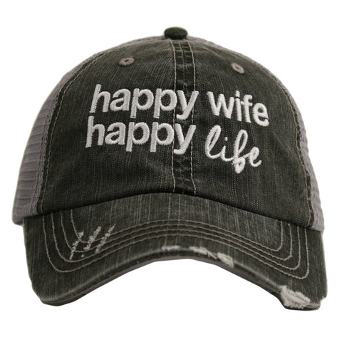 Katydid Happy Wife / Happy Life Trucker Hat