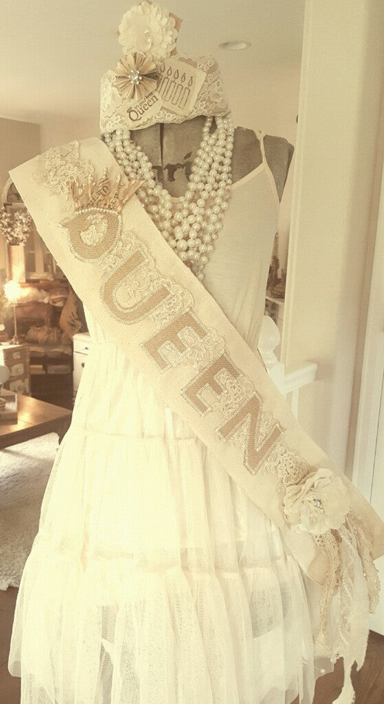 """Queen of Everything"" Sash"