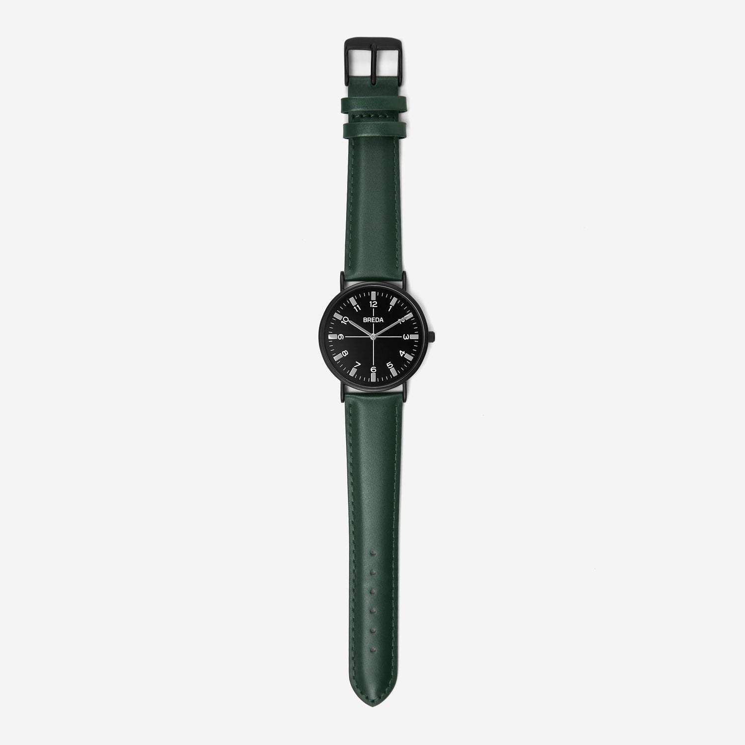 BREDA-Belmont-1646j-Black-Green-Watch-Long