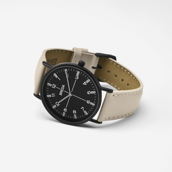 BREDA-Belmont-1646k-Black-Beige-Watch-Angle