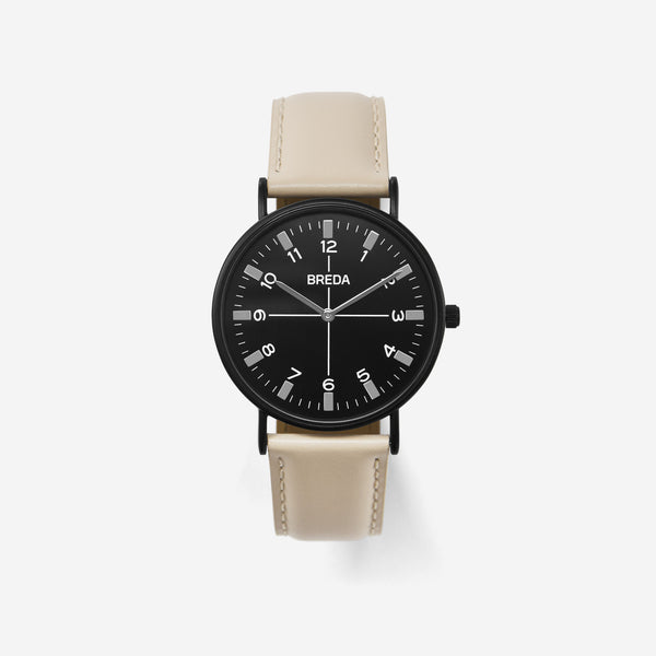 BREDA-Belmont-1646k-Black-Beige-Watch-Front