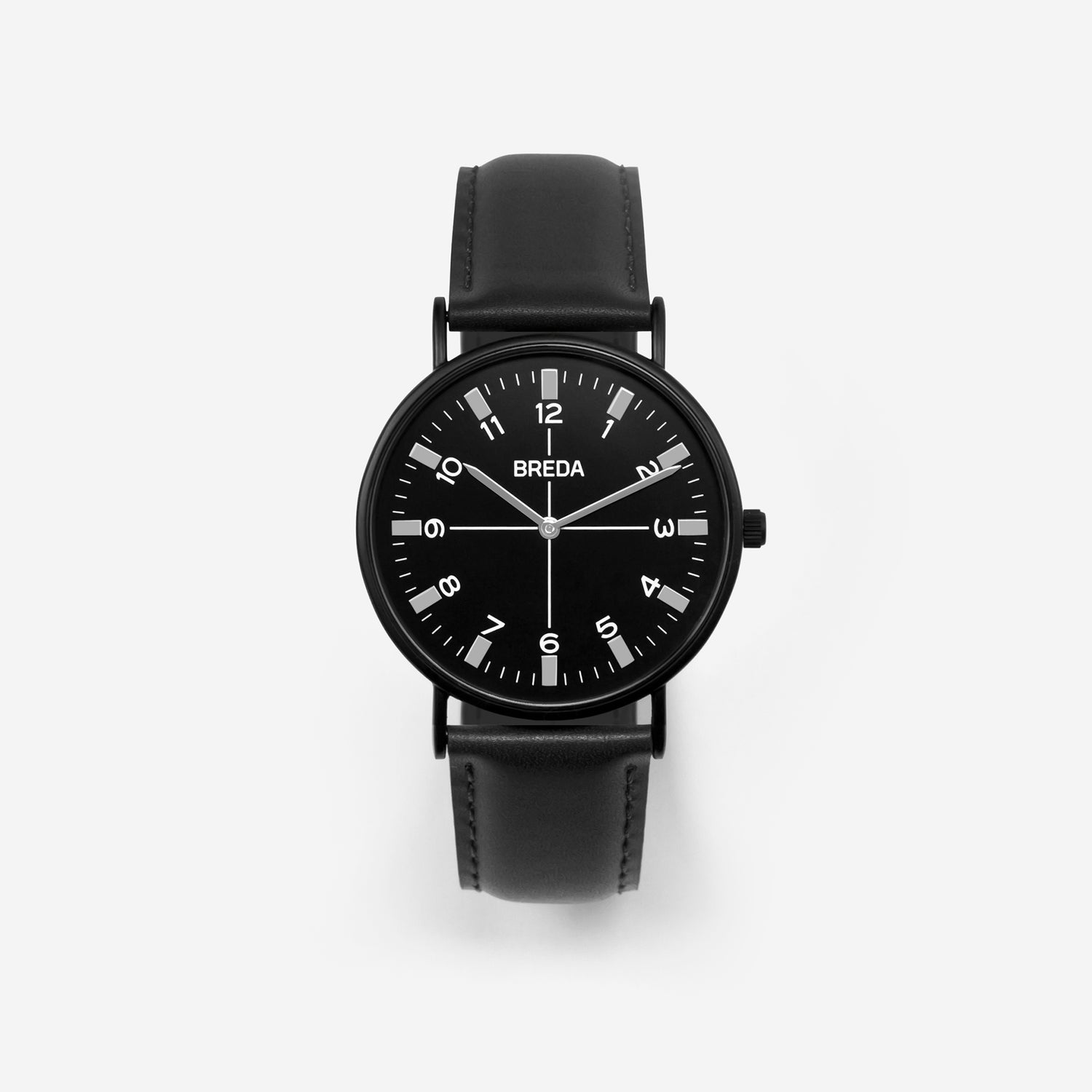 BREDA-Belmont-1646m-Black-Black-Watch-Front