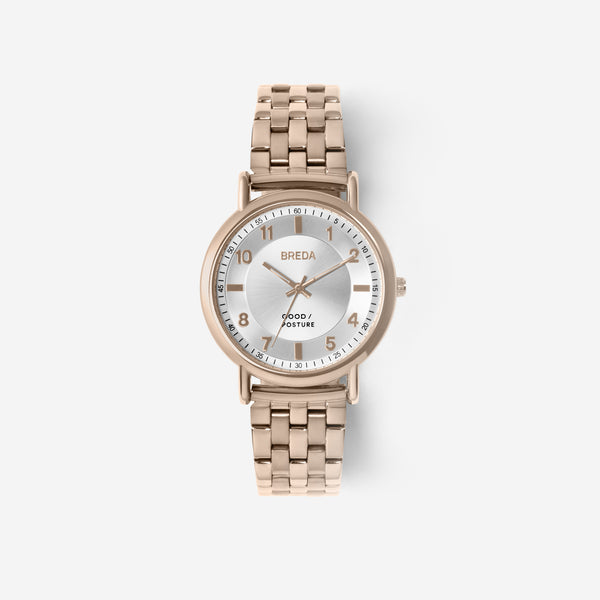 BREDA-Good-Posture-Theophilus-Martins-Blossom-5017c-Rose-Gold-Watch-Front