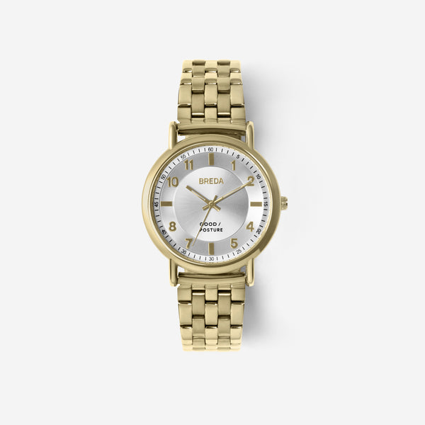 BREDA-Good-Posture-Theophilus-Martins-Blossom-5017d-Gold-Watch-Front