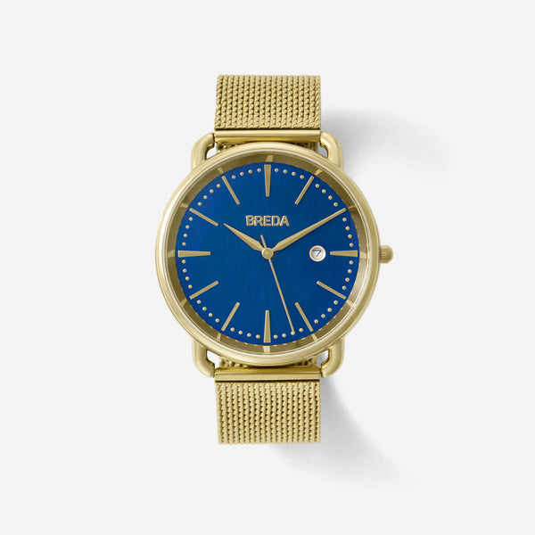 BREDA-Linx-5016D-Gold-Blue-Watch-Front