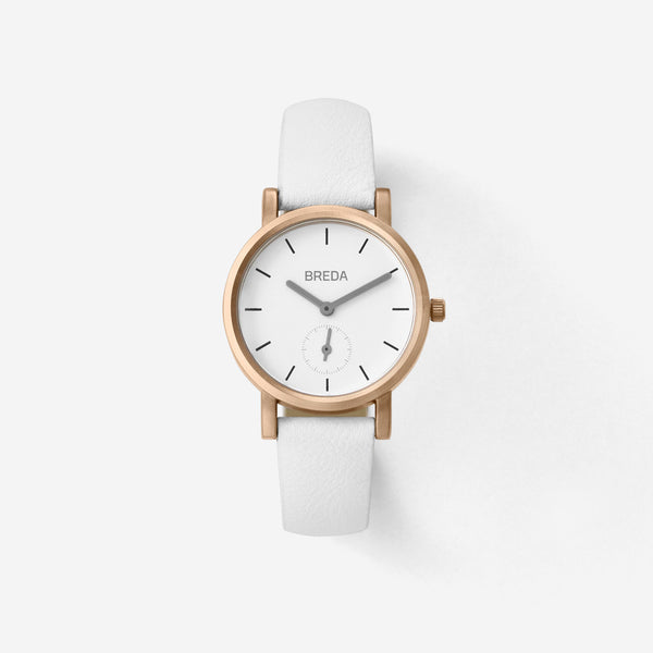 BREDA-Palette-2456A-Rosegold-White-Watch-Front