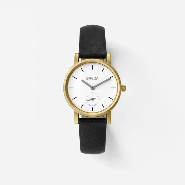 BREDA-Palette-2456D-Gold-Black-Watch-Front