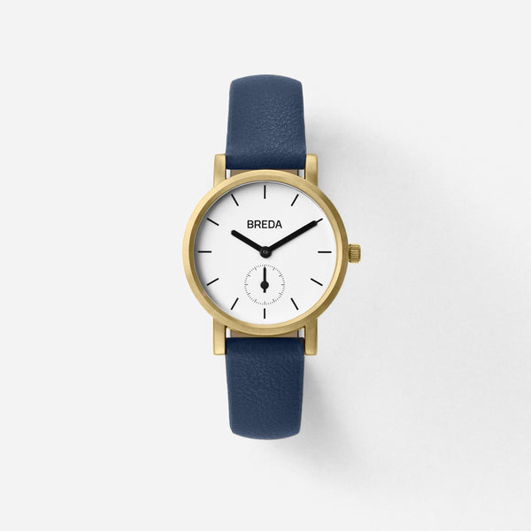 BREDA-Palette-2456F-Gold-Navy-Watch-Front