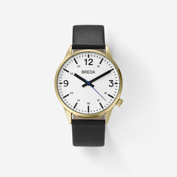 BREDA-Slate-7017A-Gold-Black-Watch-Front