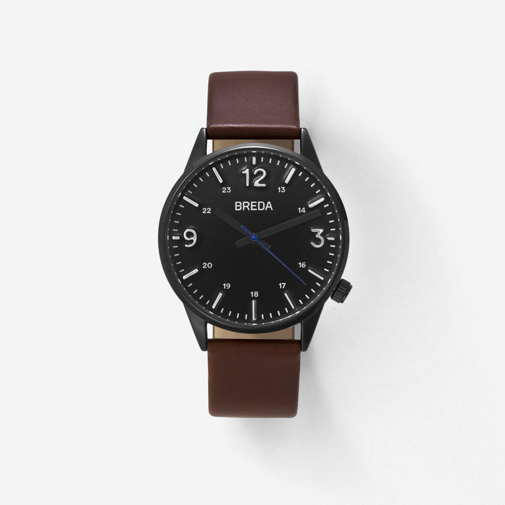 BREDA-Slate-7017B-Gunmetal-Brown-Watch-Front
