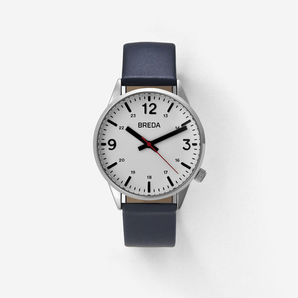 BREDA-Slate-7017C-Silver-Navy-Watch-Front