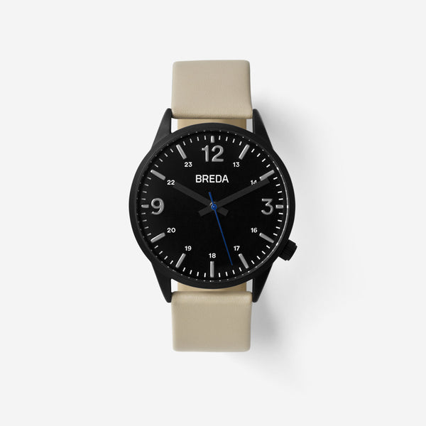 BREDA-Slate-7017G-Black-Beige-Watch-Front
