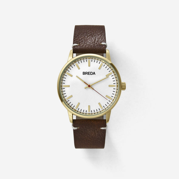 BREDA-Zapf-1697A-Gold-Brown-Watch-Front