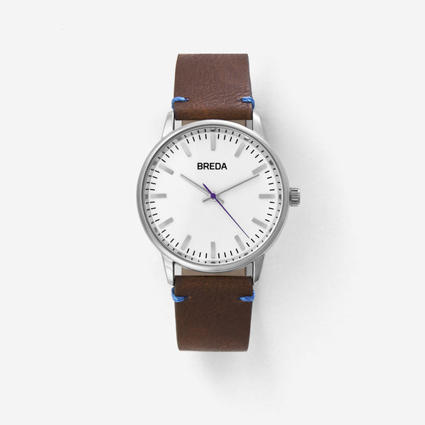 BREDA-Zapf-1697F-Silver-Brown-Watch-Front