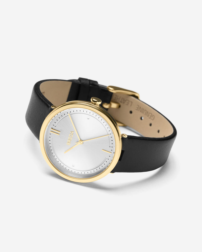 breda-agnes-1733a-gold-black-leather-watch-angle