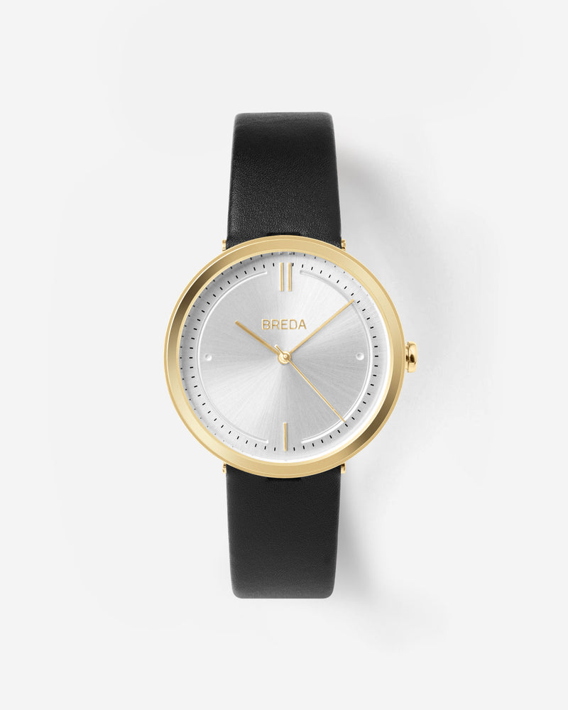breda-agnes-1733a-gold-black-leather-watch-front